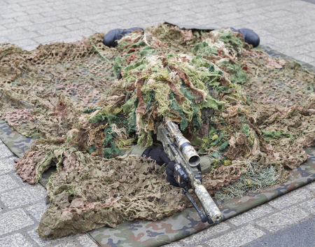 terrain: KRAKOW, POLAND - JANUARY 14, 2017: Welcome to American troops on Krakow Market Square during picnic Secure Poland dedicated to arriving of soldiers for strengthening of the eastern flank of NATO.