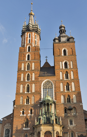 assumed: Church of Our Lady Assumed into Heaven also known as St. Mary Church in Krakow, Poland Stock Photo