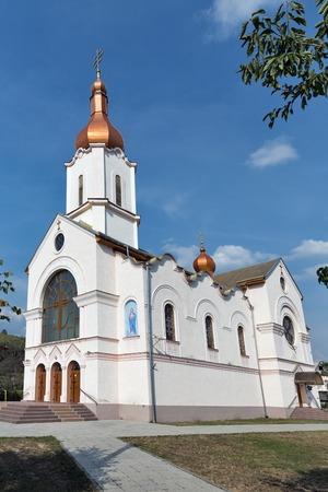 Saint Ilya Church, Greek Catholic Church in Chynadievo, Western Ukraine. Stock Photo