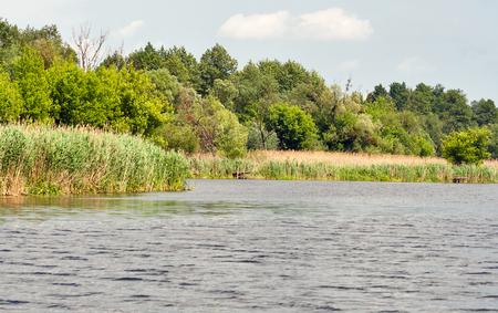 quiet Ros river at summer, Ukraine