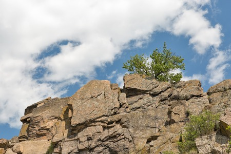 Southern Bug river rocks landscape in Migeya, Ukraine.