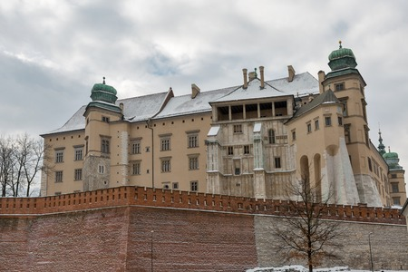 Sigismund III Vasa tower 1595, Jordan tower and defensive walls of Wawel Royal Castle in Krakow, Poland..