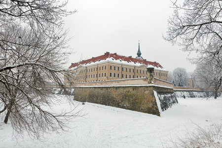 Winter Lubomirski castle in Rzeszow, Poland
