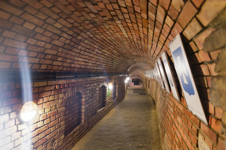 RZESZOW, POLAND - JANUARY 17, 2017: Underground tourist route under Market square. It is a popular tourist destination and the city itself dates back to middleages. Editorial