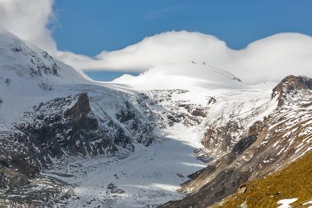 Mountain landcape on Kaiser Franz Joseph glacier. Grossglockner High Alpine Road in Austrian Alps. Stock Photo