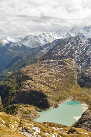 Grossglockner High Alpine Road in Austrian Alps. Mountains landscape on Kaiser Franz Josef glacier.