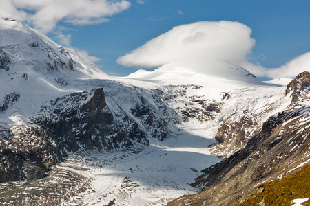 Mountain landscape on Kaiser Franz Josef glacier. Grossglockner High Alpine Road in Austrian Alps. Stock Photo
