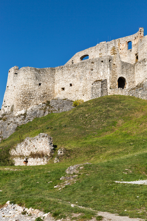 Walls of Spis Castle in Slovakia