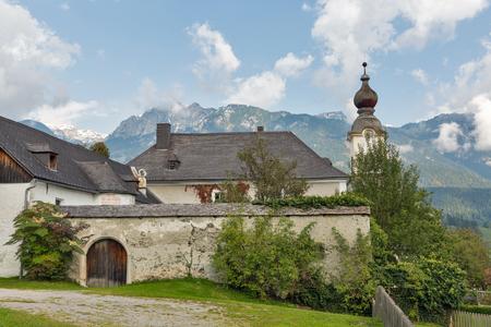 Saint John the Baptist church in Haus, Styria, Austria. Stock Photo
