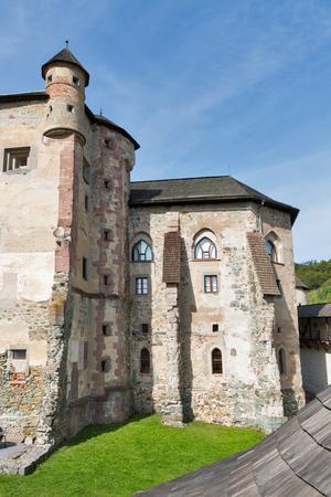 Old medieval Castle courtyard in Banska Stiavnica, Slovakia. UNESCO World Heritage Site.