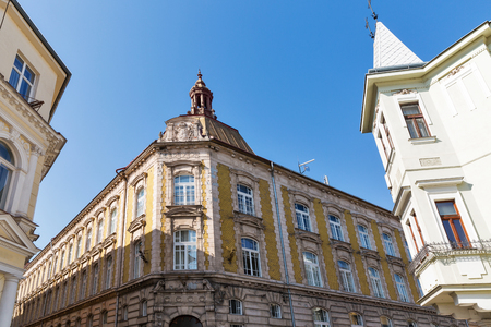 Old Town architecture in Kosice, Slovakia. Gymnasium building Stock Photo