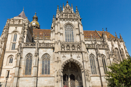 Cathedral of St. Elizabeth in Kosice old town, Slovakia.