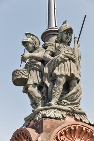 Moltke Bridge statue in Berlin, Germany Stock Photo