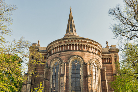 Zionskirche or Zions Church in spring in Berlin, Germany Stock Photo