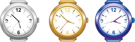 vector illustration set of men's watches Stock Vector - 8285842