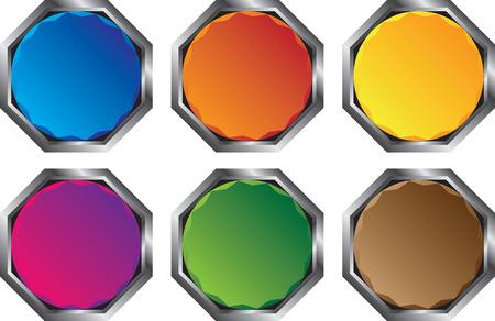 밝은 다각형 버튼 스톡 콘텐츠 - 9041596