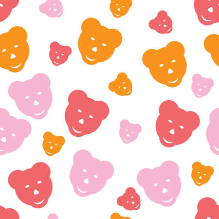 dekor: texture image with the bears Illustration