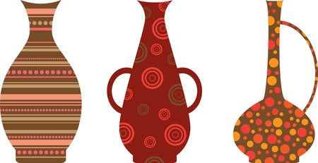 set of jug with the arab ethnic ornaments Vector