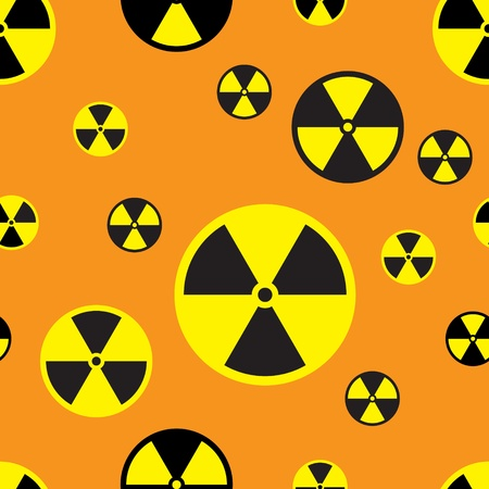 seamless texture with a sign of radiation hazard Stock Vector - 9224181