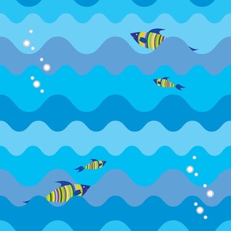 seamless texture with marine fish