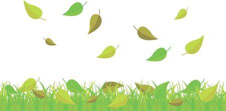 hojas de oto�o cayendo: las hojas de oto�o cayendo sobre la hierba