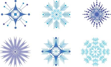 Insieme fiocchi di neve per Natale Archivio Fotografico - 11046347