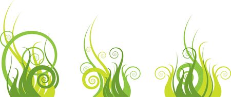 Green abstract pattern with swirls Stock Vector - 11987019