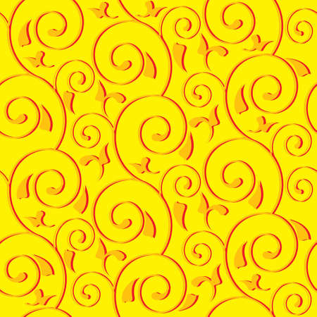repeated: seamless background with bright swirls and leaves Illustration