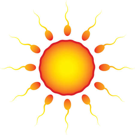 sperm around the egg as the sun Stock Vector - 12685518