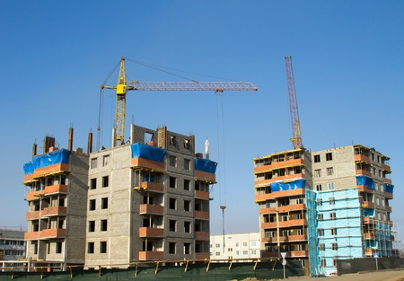 construction of two brick houses