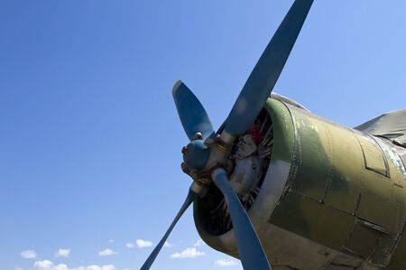 propeller airplane on a background of blue sky Stock Photo - 13184183