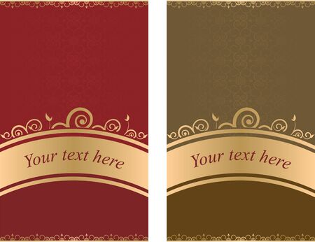 set of colored backgrounds with floral patterns Vector