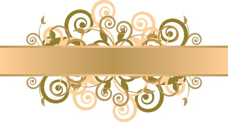 grunge background with gold swirls Vector