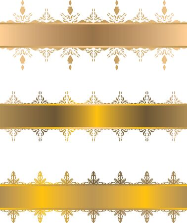 golden frame with decorative elements Stock Vector - 13328894