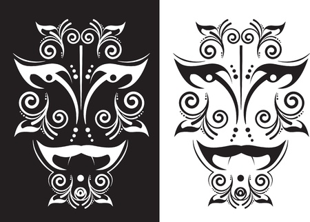 Ethnic Mask in a graphic style Vector