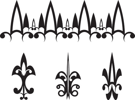 Black ornaments arrow Stock Vector - 14787091