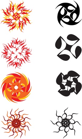 set of the graphic symbol sun Stock Vector - 14947967