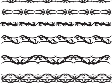 set of graphic dividing lines Stock Vector - 14947961