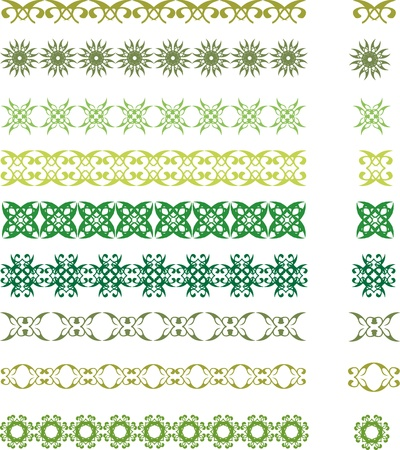 set of floral symbols and borders Stock Vector - 15087531
