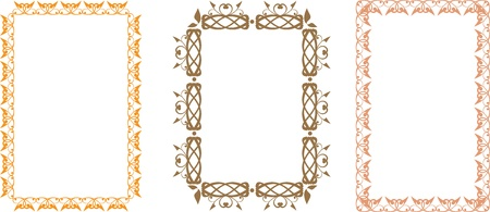 slavic: Set of slavic floral frames Illustration