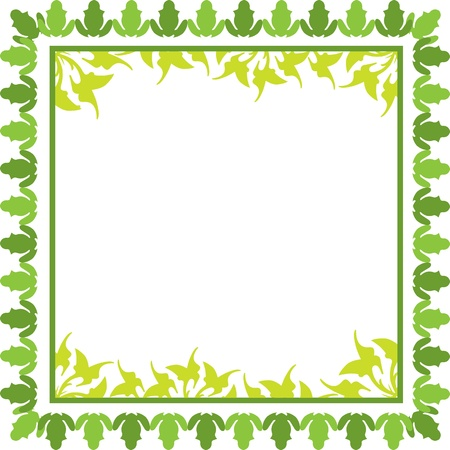 green floral  frame with leaves Stock Vector - 16684416