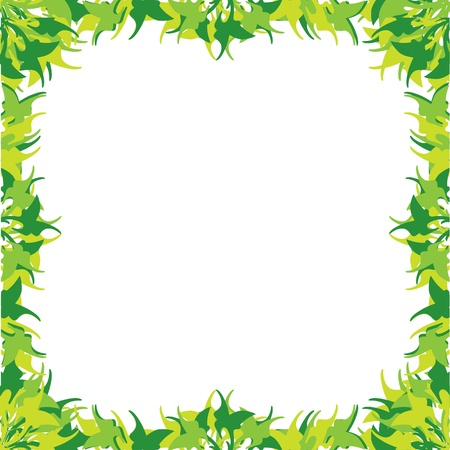 floral frame with green grass Stock Vector - 16713482