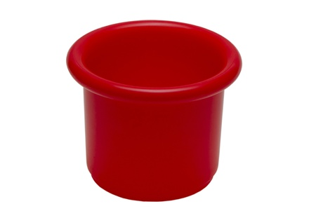 red bucket on white background Stock Photo - 17177037