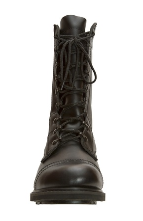 army boots on a white background Stock Photo - 17177041
