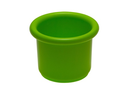 green bucket on white background Stock Photo - 17222434