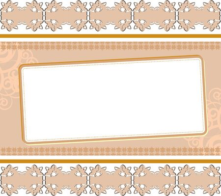 beige vintage background with a pattern Stock Vector - 17682379