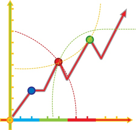 Mathematics chart the growth curve Stock Vector - 17793423