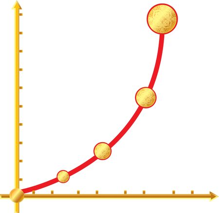financial growth curve in the graph Stock Vector - 17793431