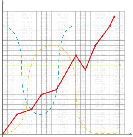Business chart with growth curve Stock Vector - 17934666