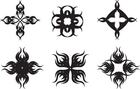 set of graphical symbols stars Illustration